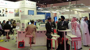 Messe-Pro Messebau international Messestand Leica ArabLab in Dubai